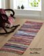 About Home Handmade multi-colored hallway runner rugs